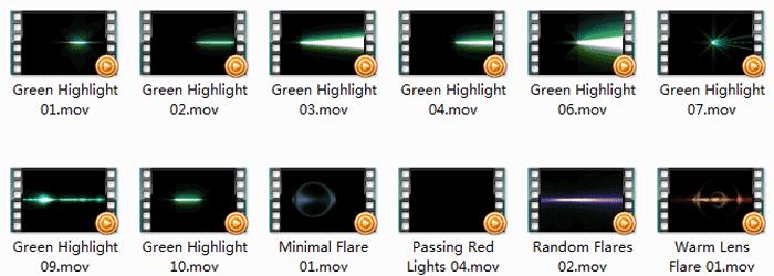 影视视频素材片头特效素材打包下载