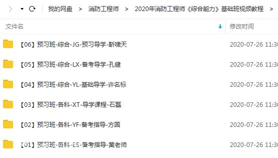 最新年消防工程师《综合能力》预习班+真题文档教程