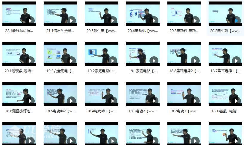 人教版初三物理课本知识点同步辅导教学视频全集(10章节 学费全免网)