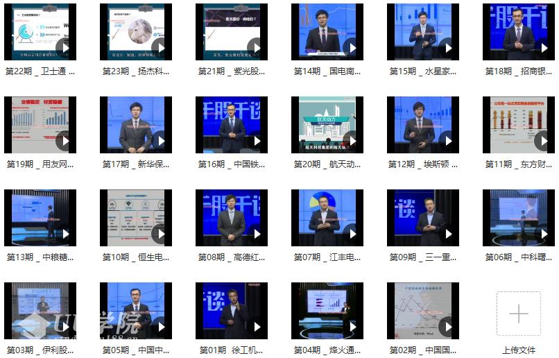 【股票】新浪理财师超级投资家 千股千谈 个股基本面分析视频23集