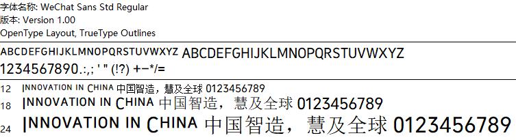 ps微信字体微信转账字体微信数字字体