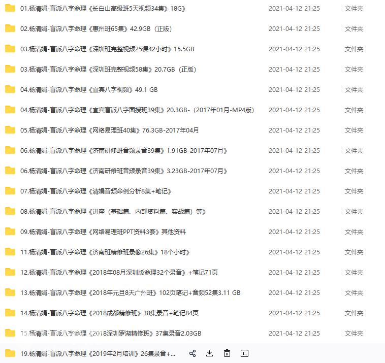 杨清娟盲派八字命理多套精品视频讲座