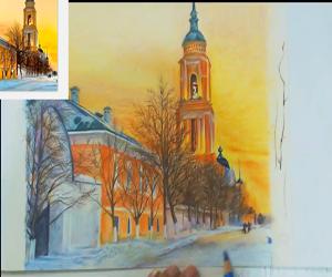 彩铅风景手绘视频教程25讲